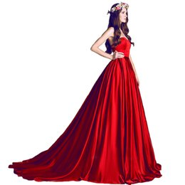 Wholesale Long Dress Import - 2017 sweep train red formal evening dress long special occasion import prom party dresses elegant bridal dress free shipping