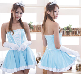 Wholesale Naughty Sexy Girl - High quality baby doll dress naughty angel costume cosplay sexy role play adult sexy girl fantasia quente hot erotic lingerie