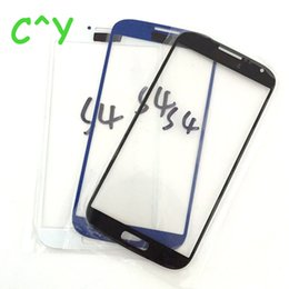 Замена переднего стекла галактики s3 онлайн-Высокое Качество Для Samsung Galaxy S5 S4 S3 Внешний Сенсорный Экран Передняя Стеклянная Замена Объектива Часть