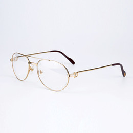 Wholesale Reading Glasses Gold Frame - Classic Metal Eyeglasses Frames Prescription Glasses Reading Glasses Luxury Men Fashion Women Journey Eyeglasses With Original Box