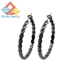 Wholesale Hoop Earrings Gold Twisted - Modern Minimalism C-Shaped Fashion Twist Hoop Earrings Three Color Plating Can be Optional