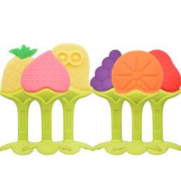 Wholesale Fruit Development - Wholesale- 1Pc 0-12 Months Baby Kids Educational Fruit Shape Cartoon Rattles Teether Toys Gifts for Newborn Development Apple Peach Grapes