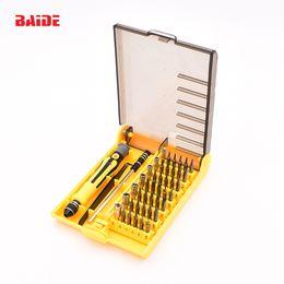 Wholesale 45 Screwdriver Torx - 45 In 1 Electron Torx MIni Magnetic Screwdriver Tool Set hand tools Kit Opening Repair Phone Tools 10set