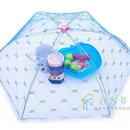 Wholesale fly cases - Food Umbrella Cover Hexagon Activity Folding Lace Dish Casing Anti Fly Mosquito Covers Home Kitchen Accessories Tool 1 8jm F R