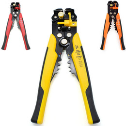 Wholesale Cable Cutter Stripped - Cable Wire Stripper Cutter Crimper Automatic Adjustable Multifunctional Terminal Crimping Stripping Plier Tools wire cutters Electric