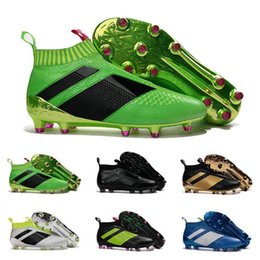 Wholesale Cheapest Best Winter Boots - 2017 Cheap Online ACE 16+ PureControl best quality soccer boots more color football shoes men soccer shoes football boots Sport Shoes