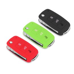 Wholesale Silicone Car Key Cover Vw - Silicone Car Key Case Cover For VW Golf Bora Jetta POLO GOLF Passat Skoda Superb Octavia A5 Fabia SEAT Ibiza Leon