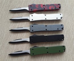 Wholesale Christmas Gift Pocket Knife - 201503 New Mini pocket knife 440 blade 440 blade black Carbon fiber camouflage handle small EDC keychain knife 30g best christmas gift B20L