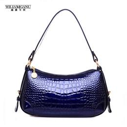 Wholesale Crocodile Hobo Bag - Wholesale- WILIAMGANU 2017 New Fashion PU Leather Women Big Shoulder Bags Zipper Soft Ladies Bag High Quality Crocodile Shoulder Bag