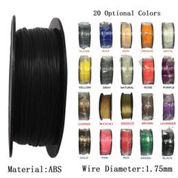 Wholesale Abs 1kg - ABS 1.75mm 1kg   2.2lbs 3D Printer Filament Plastic 3D Printing Rubber Ribbon Consumables Material Filament Printer Supplies
