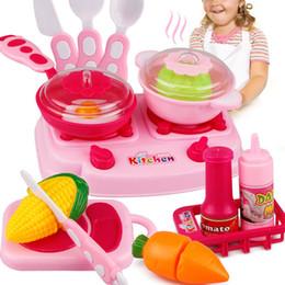 Wholesale Toy Kitchen Utensils Wholesale - 2017 new 15 sets of tableware children's kitchen utensils dream kitchen had children's toys kindergarten teaching aids