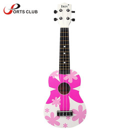 "Wholesale Red Guitar Toys - Wholesale-21"" Ukelele Ukulele Hawaii guitar 4 Nylon Strings with Colorful Pattern Basswood Stringed Instrument Kid's Musical Toy Gift"