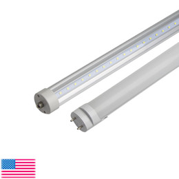 Wholesale G13 T8 Smd Led Tube - T8 4ft G13 led tube light 8ft single pin led tube lights FA8 8 foot led fluorescent light bulbs 22w 45w ac85-265v