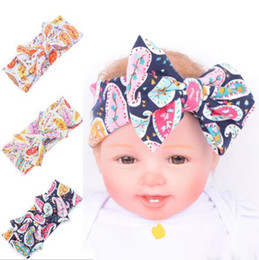 Wholesale Cheap Girls Head Bands - Knot Bow Headband baby hair Headbands Paisley Baby Girl Hair Accessories Hair band headscarf Ornaments girls Head Wrap Twisted 2017 Cheap