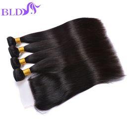 Wholesale Sale Weave - Big Sale Brazilian Straight Hair With Closure Brazilian Straight Lace Closure With Hair Bundles Brazillian Straight Human Hair Weave