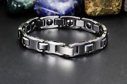 Wholesale Magnetic Tungsten Steel Bracelet - Wholesale- tungsten steel bracelet male energy magnetic health bracelets men's bracelets and cool luxury for the man Bangle Wristwatch