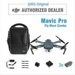 Wholesale Uav Helicopter Camera - In Stock !DJI Mavic Pro Value Combo Quadcopters Drones Helicopters GPS UAV FPV RC 4K Camera 2017 FPV Gifts Studio Aerial Aircraft
