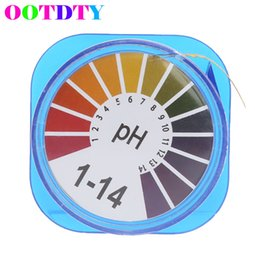 Wholesale Water Ph Test - Wholesale- OOTDTY 5m pH Paper Alkaline Acid Test Papers Water Litmus Testing For Gardening Aquarium Plant APR20_30