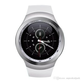 Wholesale Latest Wrist Watches - 2017 Hot Sell Y1 smart watches Latest Round Touch Screen Round Face Smartwatch Phone with SIM Card Slot smart watch for IOS Android