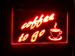 Wholesale Lighted Coffee Signs - b70 coffee to go Bar NR LED Neon Light Sign