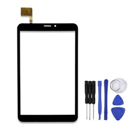 "Wholesale Prestigio Tablet Digitizer - Wholesale- 8"" Touch Screen for Prestigio MultiPad PMT3408 4G PMT3408_4G Tablet Capacitive Sensor Panel Digitizer Glass with Repair Tools"