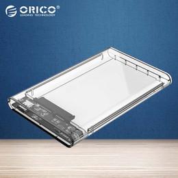 hdd gehäuse großhandel Rabatt Großhandel-ORICO 2,5-Zoll-Transparent-HDD-Gehäuse Typ C zu Sata 3.0-Tool kostenlos 5 Gbit / s USB 3.1-Festplattengehäuse (2139C3)