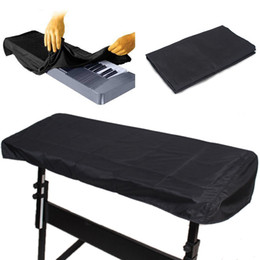 Wholesale Wholesale Keyboard Pianos - Wholesale-Black Fabric Cloth 88-Key Electronic Piano Cover Waterproof Dustproof Keyboard Dust Cover Case For 88 Key Keyboard Piano