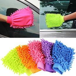 Wholesale Double Sided Microfiber - car wash Double sided microfiber Snow Neil fiber high density car wash mitt car wash gloves towel