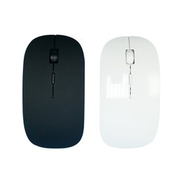 Wholesale Apple Macbook Mouse - Free Shipping High Quality Promotion Ultra Thin 2.4 GHz Black Color Wireless USB Optical Mouse for APPLE Macbook Mac Mouse
