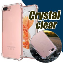 Wholesale iphone armour - Air Hybrid Crystal Soft TPU Frame Acrylic Armour Back Cover Case For iPhone 7 Plus Samsung S8 S7 edge DHL Free Shipping