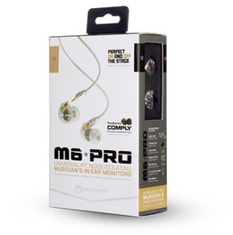 Wholesale Earphones Retail Packaging - 2017 Hot! MEE audio M6 PRO Universal-Fit Noise-Isolating Earbuds Musician In-Ear Monitors headsets Wired Earphones With Retail Packaging