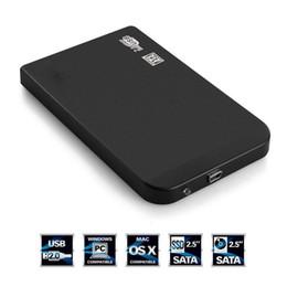 "Wholesale Laptop Hard Drive Enclosure - Wholesale- Wholesale DropShipping 1Pc Black USB 2.0 480Mbps Enclosure Case Box for Laptop 2.5"" SATA Hard Drive"