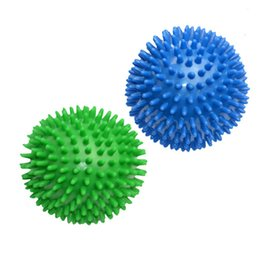 Wholesale Hand Massage Balls - Wholesale- Newest 6cm Spiky Massage Ball Hand Foot Body Pain Stress Massager Relief Trigger Point Health Care Sport Yoga Balls