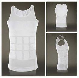 Wholesale Men Purple Girdle - Wholesale- Men's Body Shaper Shirt vest waist girdle buster slim tank fat belly 2 colors GL