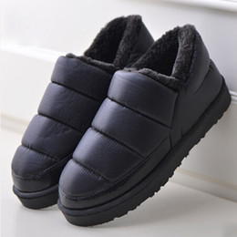 Wholesale Waterproof Snow Boots Wholesale - 2016 Plus Size 35-44 Men and Women Winter Snow Boots Warm Flat and Waterproof Ankle Boots Platform Home Shoes