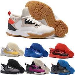 Wholesale Newest Low Cut Basketball Shoes - Newest D Lillard 2 Rip City Men's Basketball Shoes Black Scarlet Red White D Lillard 2s Static Youth Sports Sneakers Boots Size 7-12