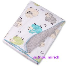 Wholesale Fleece Animal Throw - Animal Cute Designs Baby Throw 100% polyester Soft Fleece Baby Blankets Printed Mink Knit Back Coral