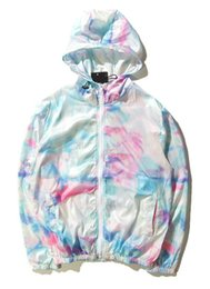 Wholesale Men S Slim Tie - New Men Map Tie-dye Ice Cream Sunscreen Sportwear Off the RIPNDIP Hip Hop Windbreaker Hoodies Jogger Sweatshirt Bird Y-3 YEEZUS jacket