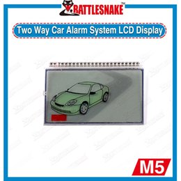 Wholesale Display For Car Alarm - Wholesale- In stock Free shipping LCD display screen for russia version two way car alarm system MAGICAR SCHER-KHAN 5 LCD remote controller
