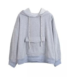 Wholesale Cashmere Hoodies For Women - 2016 Korean winter clothing new loose thin color mosaic with cashmere turtleneck hoodie coat for female students