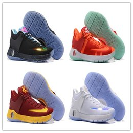 Wholesale Kd High Cut - 2017 high quality KD 5 Trey Basketball Shoes More Colors Men Basketball Sneakers Wholesale Price KD 5 Sport Sneakers Fashion Shoes With Box