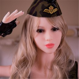Wholesale Europe Sex Dolls - Europe Style Three Holes White Skin Blond Hair 65 Inch 33KG Realistic Skeleton Real Silicone Sex Doll