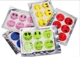Wholesale Mosquito Stickers - New Mosquito Repellent Patch Smiling Face Drive Midge Mosquito Killer Cartoon Anti Mosquito Repeller Sticker 6pcs set