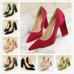 Wholesale Sexy Toes Wedge Shoes - Sexy Hight 2017 ladies Brand Women Pumps Thin Heel Women's Pointed Toe High Heels Wedding Shoes size 35-39