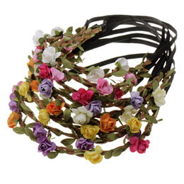 Wholesale Purple Headbands For Wedding - Buy 1 free 2 Beach Hair Accessories jewelry New Fashion Women Bohemia Beach Flower Hair Bands Headband Hair Accessory Head wear for free