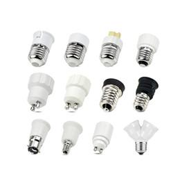 Wholesale E14 G9 Adapter - Wholesale- 1Pcs AC 110V - 220V E27 E14 GU10 G9 E12 B22 light Holders Converter Socket Adapter lampholders For LED Corn lamp RGB Spot Bulb