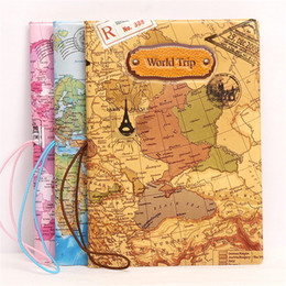 Wholesale New World Cover - New Arrivals World Map 3D Passport Covers Wallets Card Holders Cover Case Protector PU Leather ID Holder World Trip Accessories Wholesale