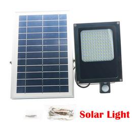 Wholesale Solar Floodlighting - 120 LED 3528 SMD Solar Powered Panel Floodlight Body Solar Light Sensor Outdoor Garden Landscape Spotlights Lamp 6V 6W