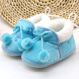 Wholesale Cute Boots For Baby Girls - Wholesale- China Cute Winter Baby Boys Girls Cotton Shoes Plush Warm Shoes Boots For 0-18 Months