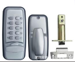 Wholesale Door Password - 110js Silvery Kirsite Channel Door Mechanical Password Door Lock Waterproof Fire Protection Code Locks Simple Operation Stable Quality
